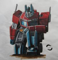 Optimus Prime (G1 Style) by AlexFentonDesigns