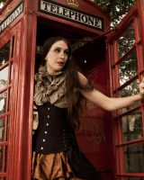 Steampunk Phonebooth by CrystalKittyCat