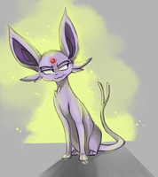 espeon doodle by Neonigma