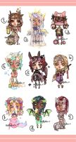 MiniChibis-03 :CLOSED: by mostlyniceAdopts
