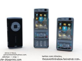 Nokia N95   Fully Textured by theseventhshadow