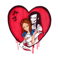 JTK Doodle 9 Jeff x Alice by SabrinaNightmaren