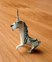 $20 Dollar Origami Unicorn by craigfoldsfives