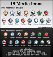 15 Dock Social Media Icons by MadamSteamfunk