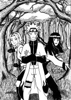 Naruto and ladies by Xpuk