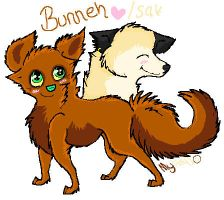 Bunneh and Isak by MyHal0
