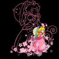 MPrints_Peach and flowers by Chivi-chivik