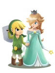 Commission: Toon Link and Rosalina by bAkiKA