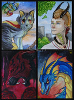 Bunch of ACEO's by TransparentGhost