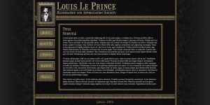 Louis Le Prince Website by Garsondee