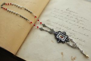 Hand Drawn Sacred Heart Necklace - image 2 by asunder