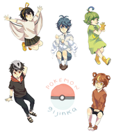 mini pokemon gijinka by nilampwns