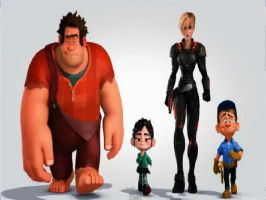 Wreck-it Ralph-Chacacters by Myhuuse123
