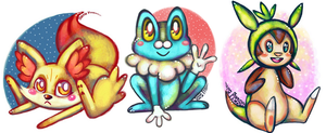 Pokemon X Y Starters by dragonfly272