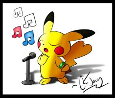 Singing Pikachu by KeThuzE