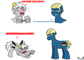 Prussia can break these cuffs by HippieUnicornFlower