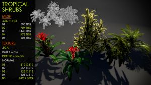 Tropical shrubs by Nobiax