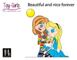 Toy Girls First Anniversary - Alice n Riley Andesn by mickeyelric11