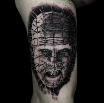Pinhead tattoo by Disse86