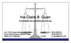 Attorney Solo Business Card by MrDraftsman