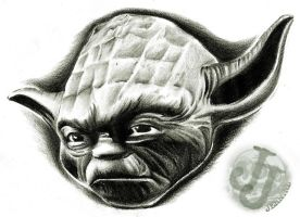 Yoda portrait by jerrrroen