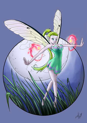 Moon fairy by Dragonniar