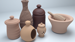 Clay Pots by aad345