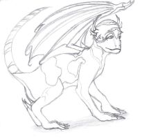 First Real Attempt At Drawing a Dragon... by I-Major-In-Magick