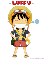 One Piece: Chibi Luffy by sorel-chama