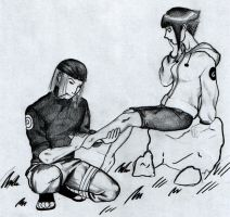 Genma x Hinata- It hurts now? by InTheArmsOfUndertow
