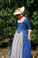 Blue Robe a l'Anglaise Front by crookedpin