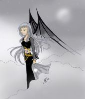 + Nishi in the clouds + f.v. by crying-shinigami