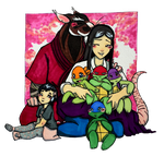Hamato family by Inya-spring
