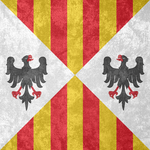 Kingdom of Sicily ~ CoA Grunge Flag (1282 - 1713) by Undevicesimus
