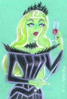 Dark Aurora Color Sketch Card by LEXLOTHOR