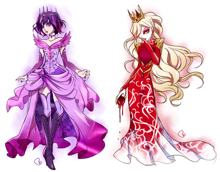 Ever After High + Raven and Apple by KagomesArrow77