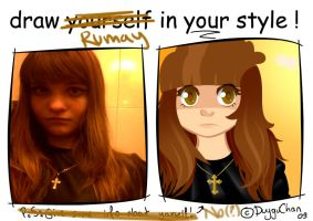 draw urself in ur style meme by Rumay-Chian