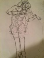 Sally show poster noncolored by violetemo16