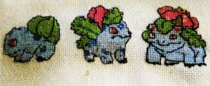 Pokemon cross stitch wip 2 by Ady-182