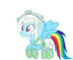 Astronaut Rainbowdash by TimeLordOmega