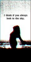 looks at the sky by CrossRed