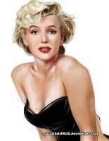 Marilyn Monroe Portrait by Jujusaurus