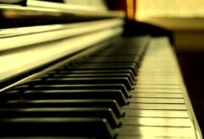 Piano in Sepia by Lianne-Issa