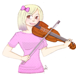 Cutie violin player by Harajuku-Lollipop