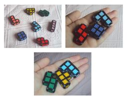 Tetris pieces minis by Alondra-chui
