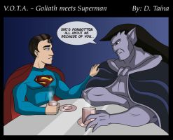 Goliath meets Superman by DTaina