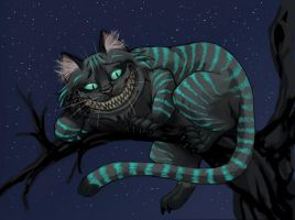 Tim Burton's Cheshire Cat by fiszike