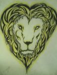 The Heart of the Lion Tribal by theblackalma13