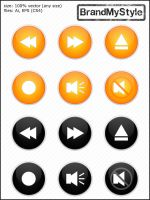 MEDIA BUTTONS v2.0 by brandmystyle