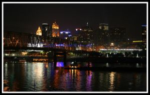 Cincinnati Skyline by quietwiser89
